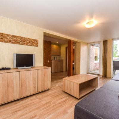 2+4 vietų dviejų kambarių apartamentai su terasa I aukštas